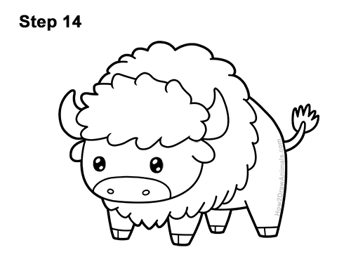 Drawing Buffalo How To Draw Buffalo Bison With Step