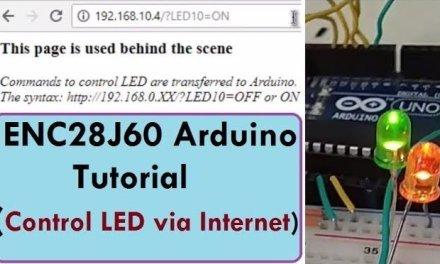 Control LED on Inernet using Arduino & ENC28J60 Ethernet Module