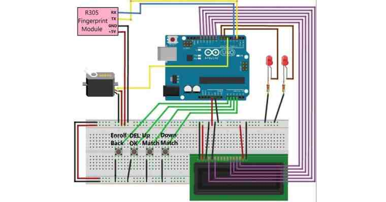 Interfacing Fingerprint Sensor with Arduino for Biometric Security System