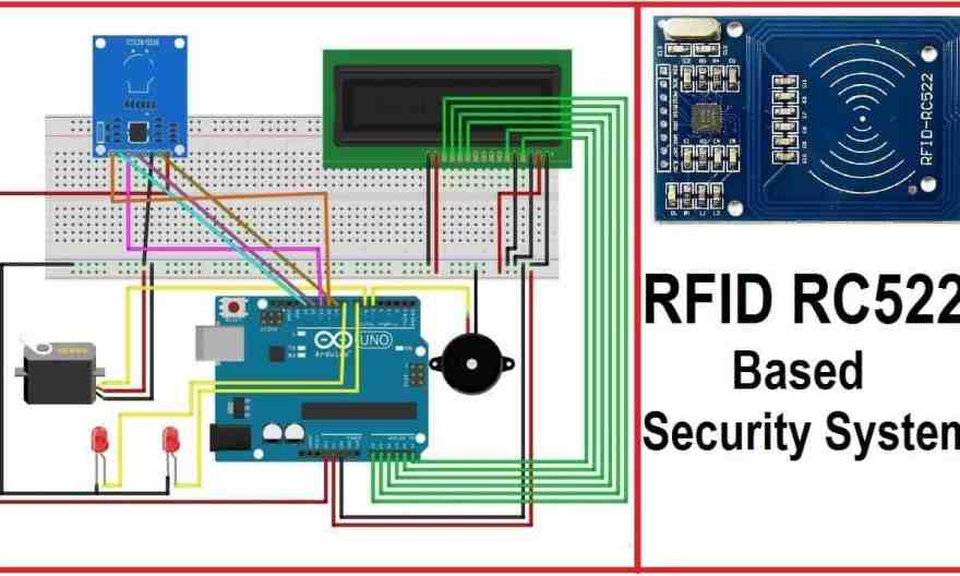 RFID RC522 Based Security System using Arduino