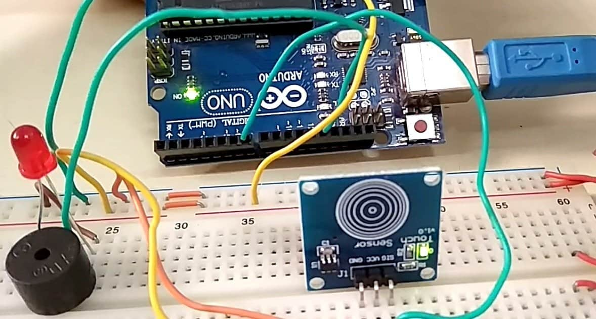 touch detector using arduino ttp223 capacitive touch sensor switcharduino ttp223 capacitive touch sensor switch
