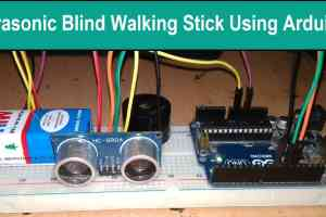 Blind Walking Stick Using Arduino & Ultrasonic Sensor HC-SR04