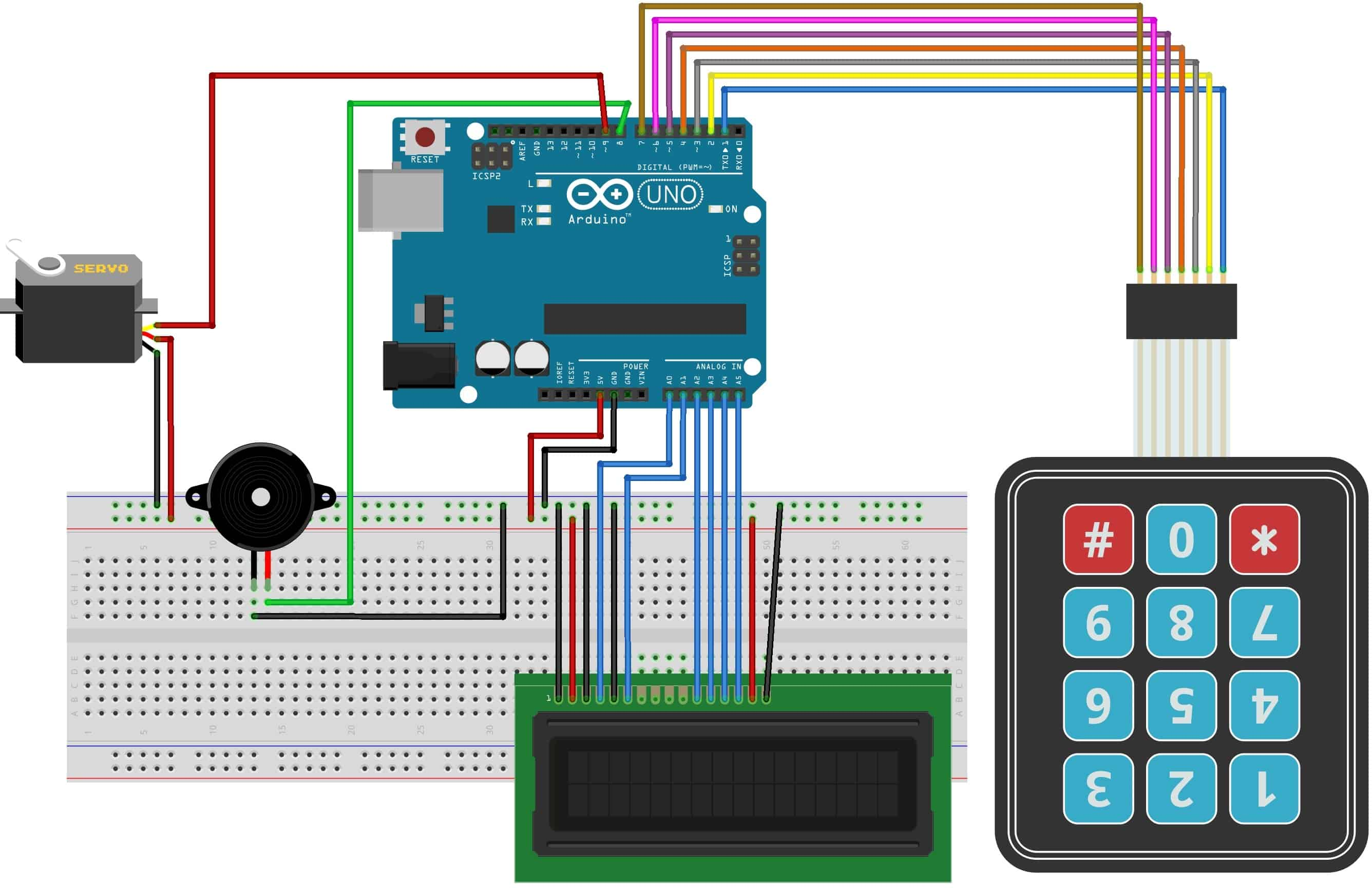 Password Based Door Lock Security System Using Arduino