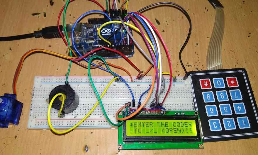 Password Based Door Lock Security System Using Arduino & Keypad
