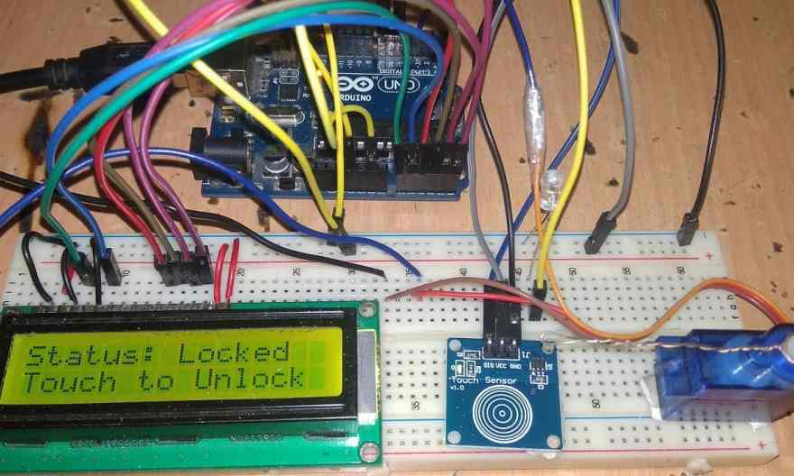 Touch Based Door Lock System Using Arduino & Touch Sensor TTP223