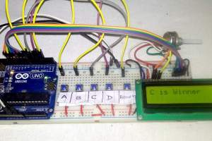 Electronic Voting Machine Arduino