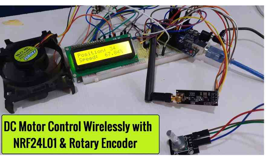 DC Motor Sd Control with NRF24L01 Rotary Encoder & Arduino on