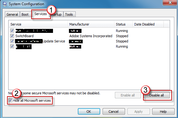 Windows 7 Clean Boot