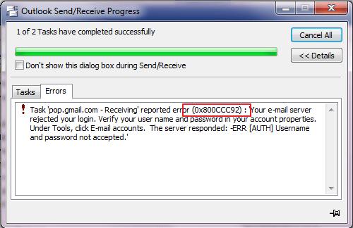 Fix-Outlook-0x800ccc92-Error-Code