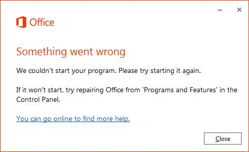 Fix We Couldn't Set Up Office Error