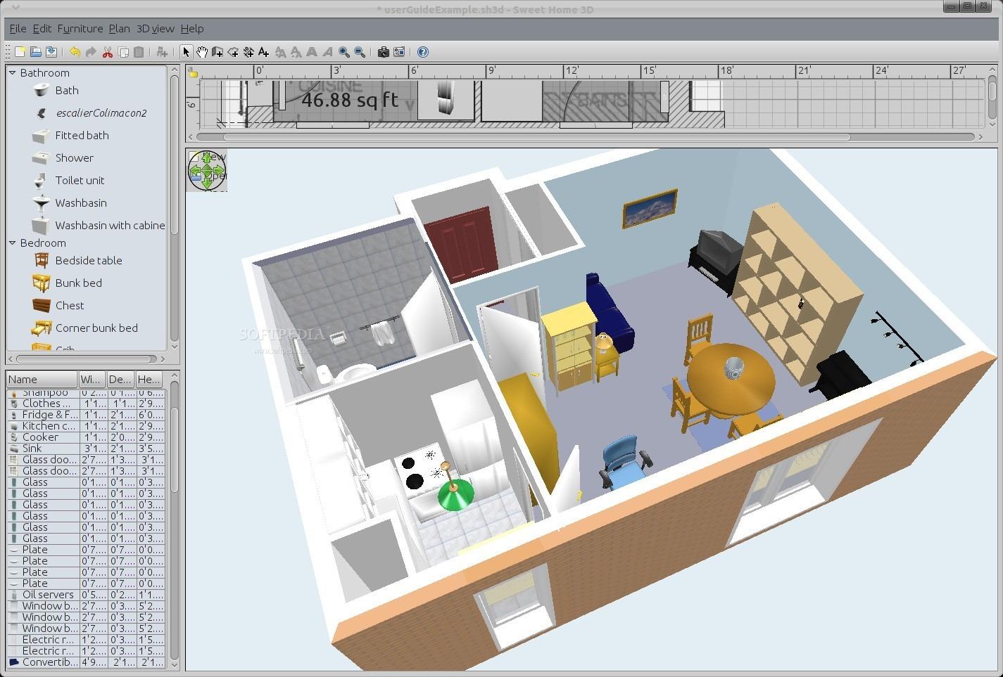 Sweet home 3d (sh3d en abrégé) est une application d'architecture qui permet à la fois de faire un plan simple de votre appartement, maison ou palais des. 11 Free And Open Source Software For Architecture Or Cad H2s Media