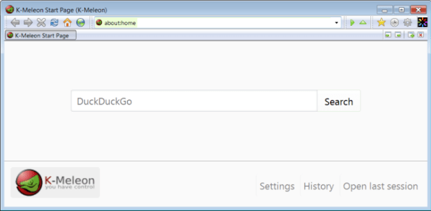 K-Meleon lightweight browser for Windows
