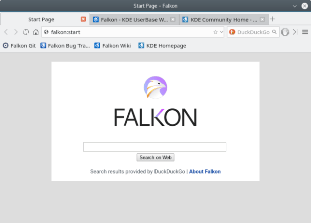 Linux lightwieght browser Falkon_3.0.0