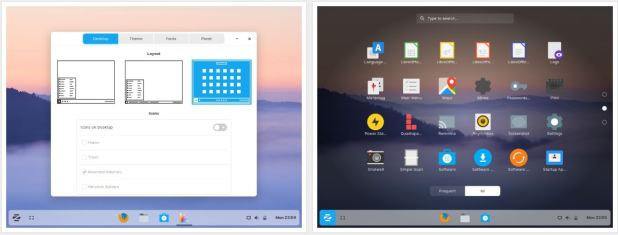 Zorin 15 OS Touch layout like Windows 10