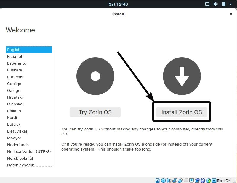 How to install Zorin OS on a computer from USB stick or