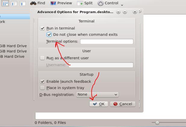 Advance shortcut option CentOS