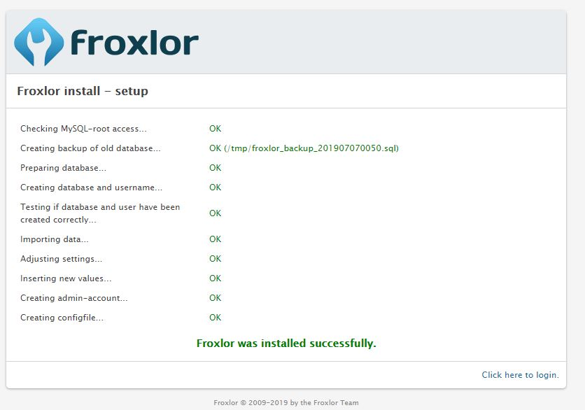 How to Install Froxlor Server Management Panel on Ubuntu 18.04