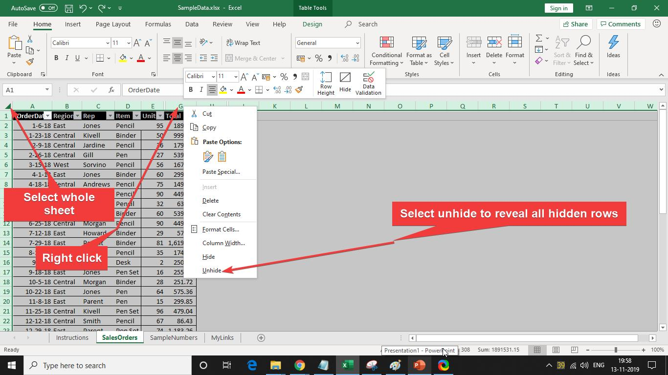 How To Hide Or Unhide Rows Amp Columns In Excel