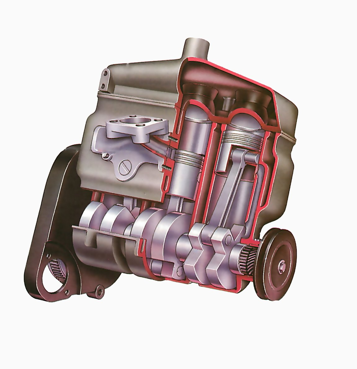 hight resolution of how a two stroke engine works