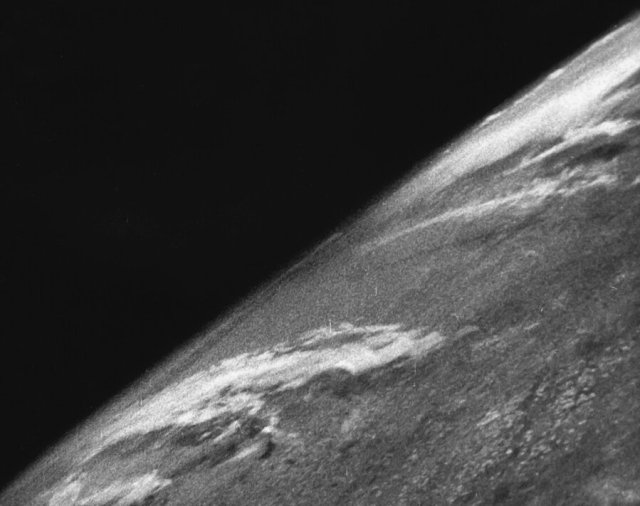 The first photograph of the Earth from space
