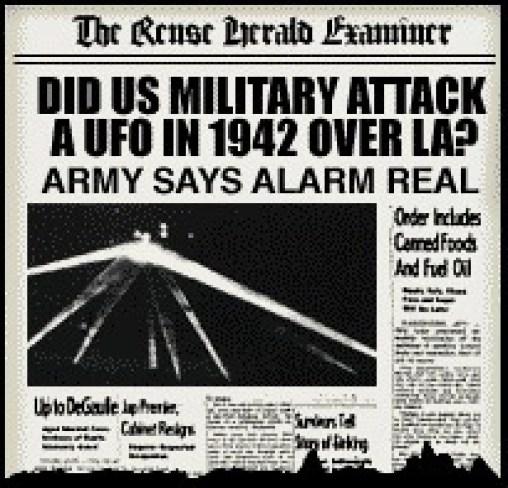 UFO battle in Los Angeles, 1942