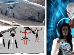 Ancient Siberian Alien Figures