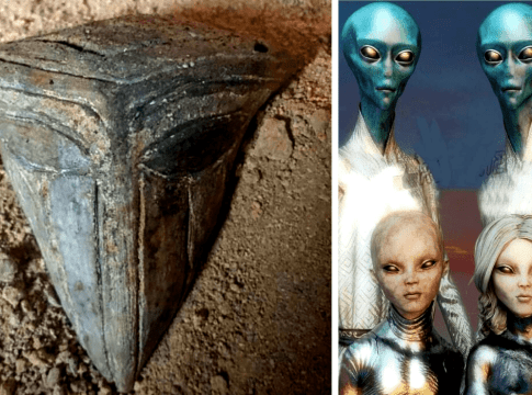 Mouthless alien mask
