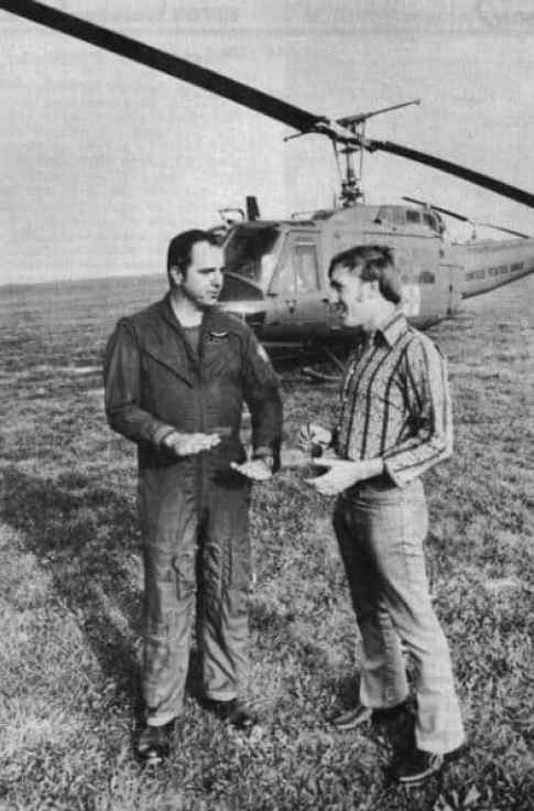 Larry Coyne with helicopter