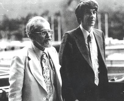 Dr. Jacques Vallée with Dr. Allen. J Hynek