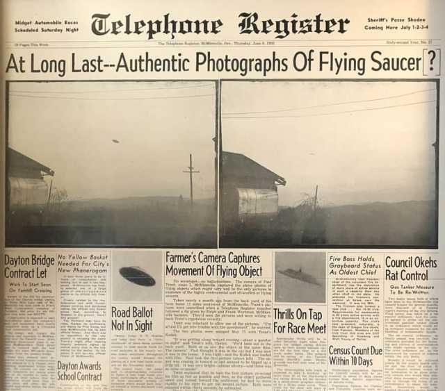 McMinnville ufo incident 1950