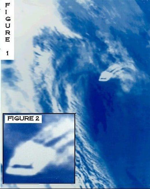 Defense satellite UFO picture