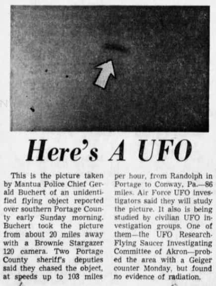 ohio ufo case 1966