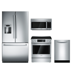 Bosch Kitchen Appliances Maple Table 800 Series 4 Piece Package Stainless Steel Bokithei8054u