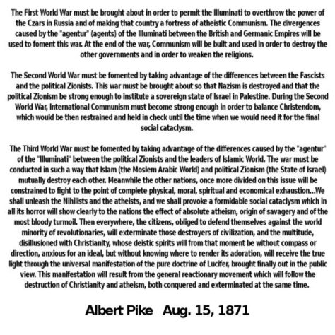 ALBERT PIKE LETTER TO MAZZINI