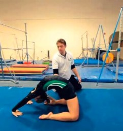 how to do a back limber in gymnastics [ 1200 x 756 Pixel ]