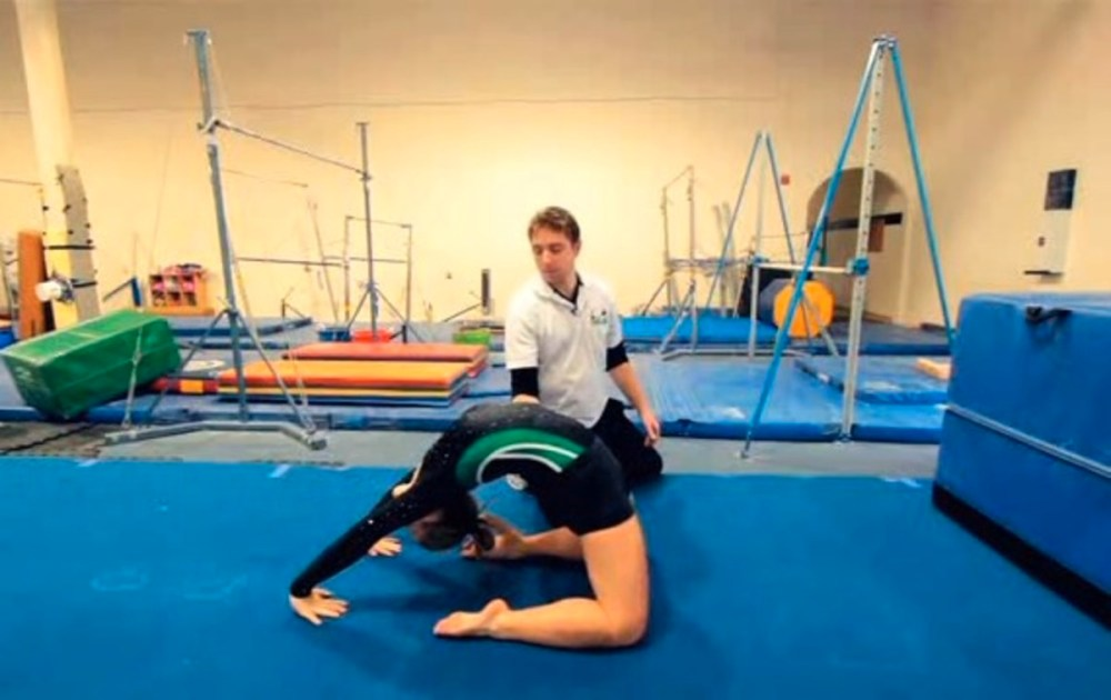 medium resolution of how to do a back limber in gymnastics