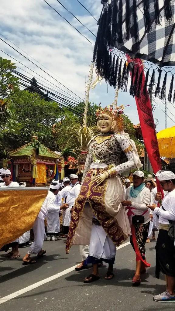 Nyepi day in Bali statue