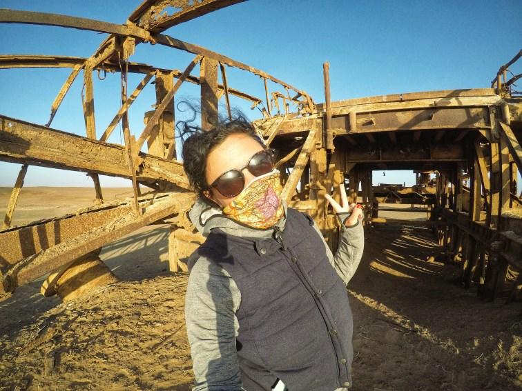 Skeleton Coast National Park abandoned oil rig