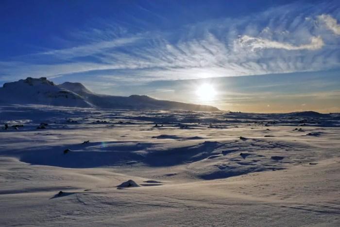 Snaefellsjokull National Park, Snaefellsnes Peninsula in the winter