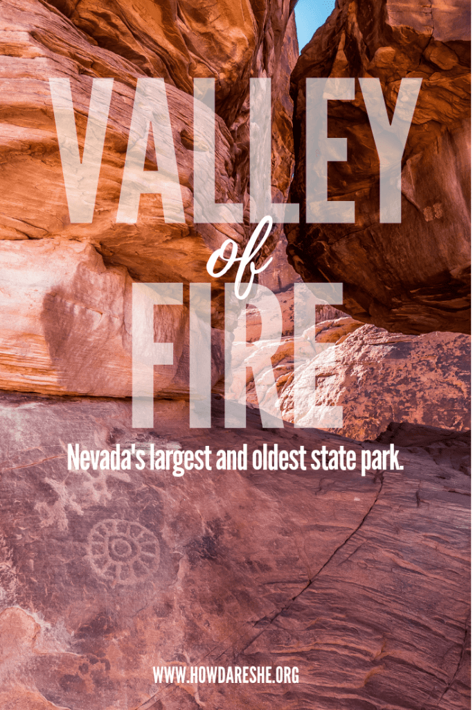 Nevada's biggest and oldest state park is the Valley of Fire. Las Vegas being just 50 miles away, the park is a great day trip to get out and explore. This guide covers what to see and do, park history and all the best hiking trails. #vegas #valleyoffire #nevada #statepark