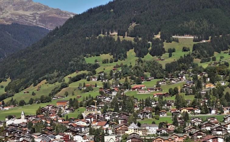 Liechtenstein country nestled in the mountains