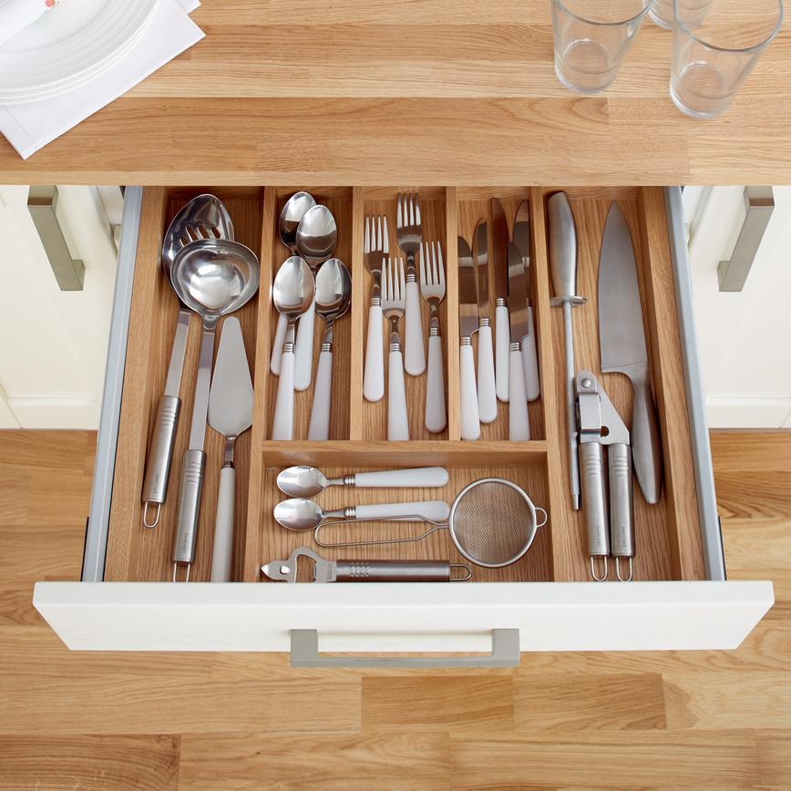 kitchen drawer cute aprons storage solutions pull out howdens timber cutlery tray to suit upgrade drawers