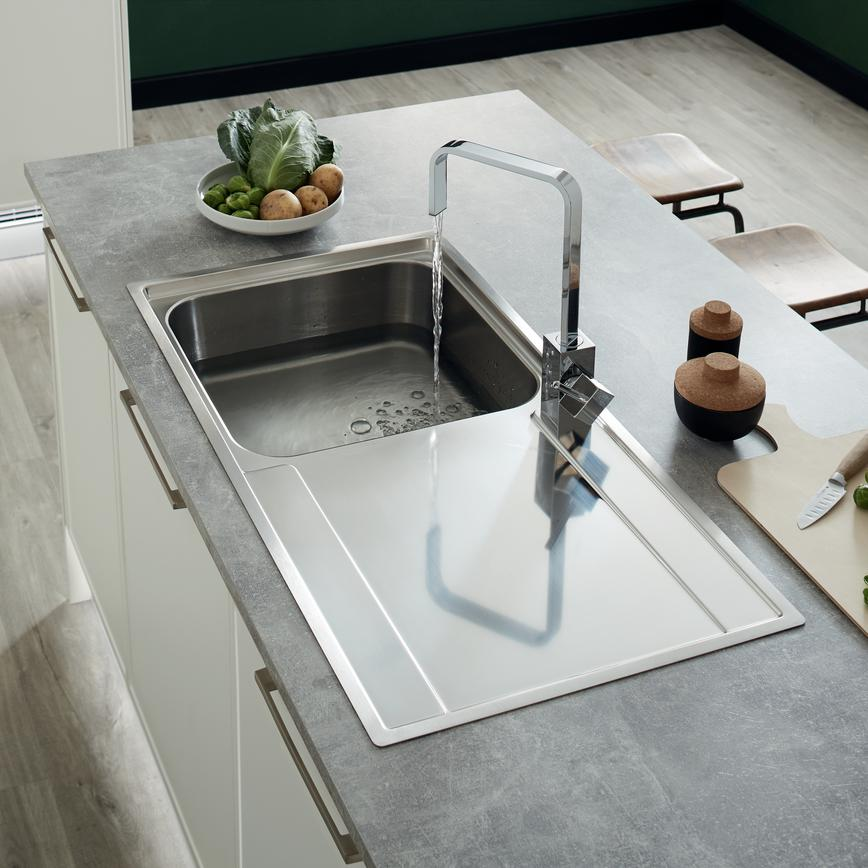 gray kitchen sink remodel estimate sinks taps howdens camberwell white tap 3 rt rt1