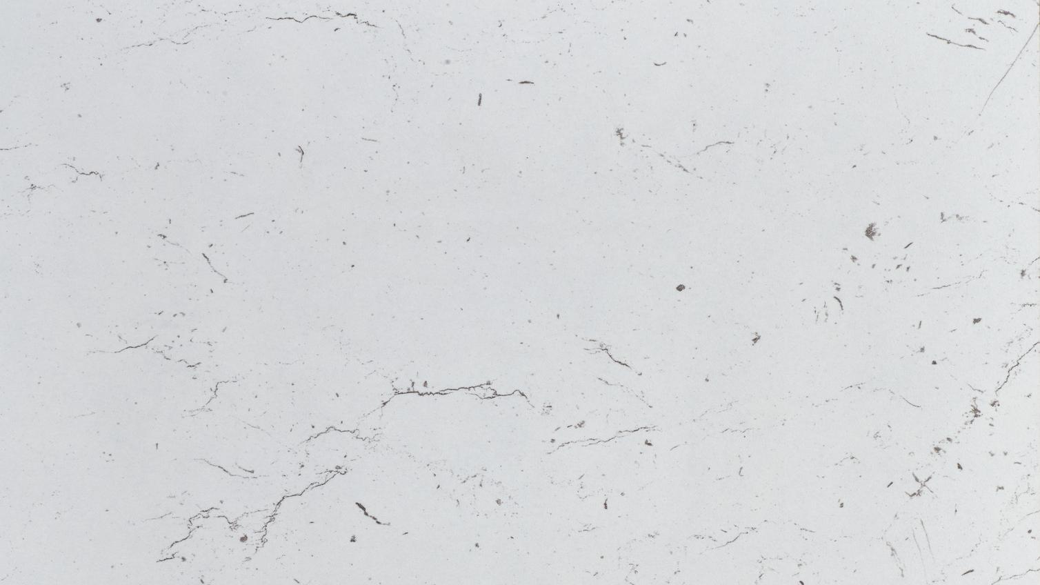 Howdens 3m x 28mm White/Grey Marble Effect Full Bullnose