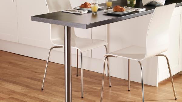 Stainless Steel Effect Breakfast Bar Leg Howdens Joinery