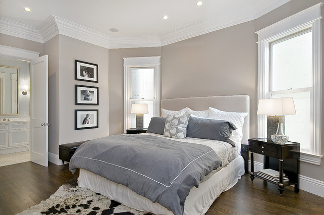 grey quilt in the contemporary room simples for painting a bedroom