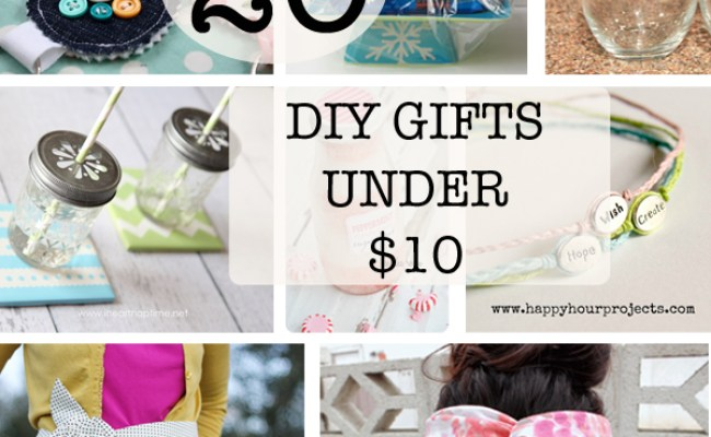 20 Diy Gifts Under 10 How Does She