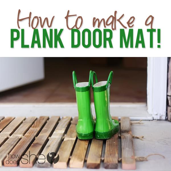 DIY Plank Door Mat