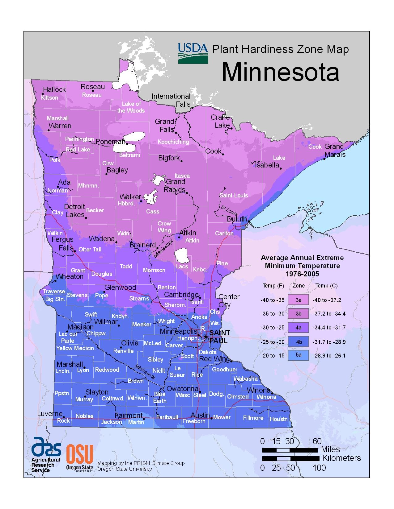 Zones Montana Growing