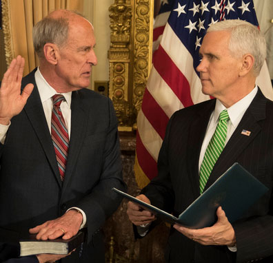 Image result for photos of dan coats james comey